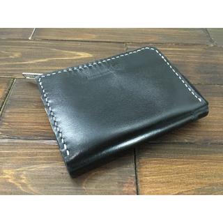 手のひらサイズ!ミニL字ファスナー財布【牛スムースレザー】(財布)