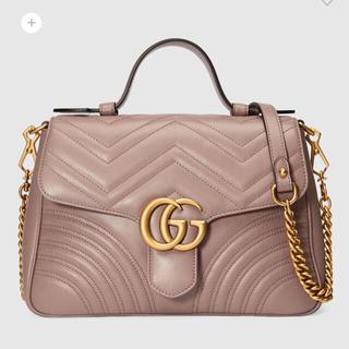 1a173f73367f グッチ(Gucci)の2018SS 〔GGマーモント〕スモール トップハンドルバッグ(ハンドバッグ