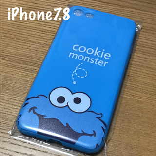 セサミストリート(SESAME STREET)のクッキーモンスター  iPhone7.8ケース(iPhoneケース)