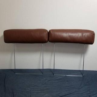 ムジルシリョウヒン(MUJI (無印良品))の無印 ワイドアームソファー・2シーター用 ヘッドレスト 本革カバー付(二人掛けソファ)
