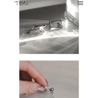 TEN ストーンsilverリング 9〜10号(リング(指輪))