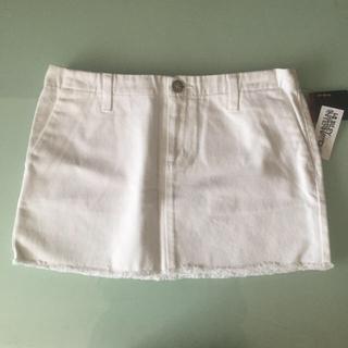 ハーレー(Hurley)のハーレー デニム スカート 白 新品タグ付(ミニスカート)