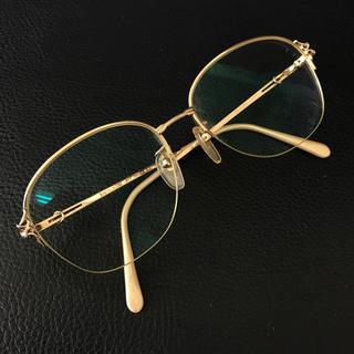 ハナエモリ(HANAE MORI)のハナエモリ メガネフレーム 眼鏡 ゴールド ⚠️度入りレンズ HM1602(サングラス/メガネ)