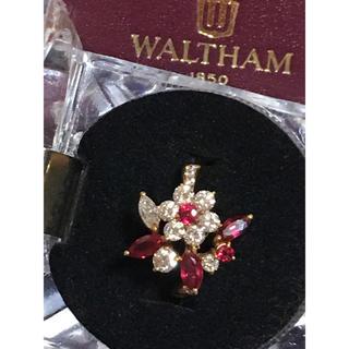 ウォルサム(Waltham)の御売約済み❣️a5 caffe様専用❣️WALTHAM750ダイヤ&ルビーリング(リング(指輪))