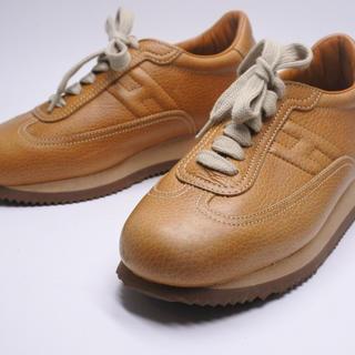 エルメス(Hermes)のエルメス クイックスニーカー シューズ ベージュ レディース 中古 35 靴 (スニーカー)