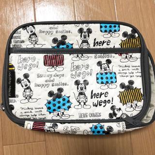 ディズニー(Disney)のミッキー  オムツポーチ(ベビーおむつバッグ)