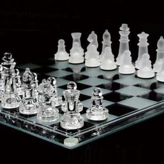 ガラス製 チェスセット インテリア (オセロ/チェス)
