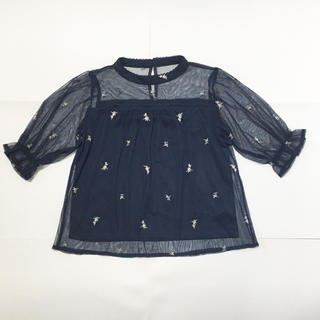シマムラ(しまむら)の花刺繍 ブラウス(シャツ/ブラウス(半袖/袖なし))
