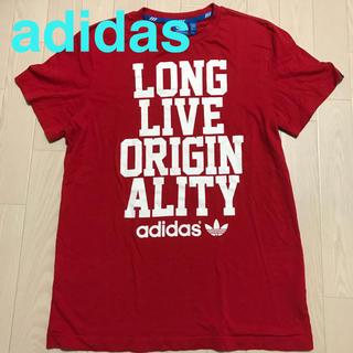 アディダス(adidas)の【美品・送料込】adidas オリジナルス Tシャツ 赤 Lサイズ メンズ(Tシャツ/カットソー(半袖/袖なし))