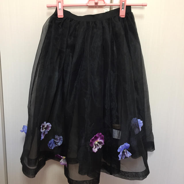 Honey mi Honey(ハニーミーハニー)のHONEY MI HONEY ❤︎ パンジー スカート レディースのスカート(ひざ丈スカート)の商品写真