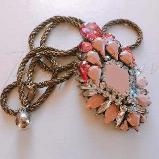 シュルック(Shourouk)の美品 SHOUROUK シュルーク ビジューネックレス(ネックレス)