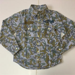 アルファ(alpha)のオススメ‼️アルファ 130cmキッズ カモフラxストライプ デザインシャツ‼️(Tシャツ/カットソー)