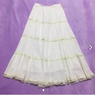 リズリサ(LIZ LISA)のリズリサ♡白ロングスカート(ロングスカート)