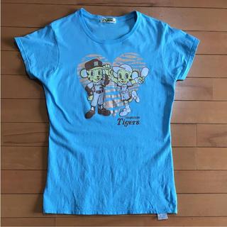ハンシンタイガース(阪神タイガース)の甲子園3連勝‼︎sale‼︎トラッキー&ラッキーTシャツ Mサイズ used(応援グッズ)