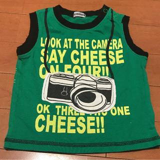 シマムラ(しまむら)のノースリーブ Tシャツ タンクトップ / カメラ柄 / 80cm(タンクトップ/キャミソール)