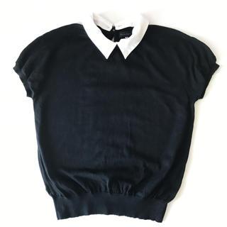 スーツカンパニー(THE SUIT COMPANY)のリトルシックほぼ新品*襟付き2wayドルマンニット(ニット/セーター)