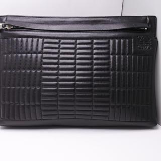 ロエベ(LOEWE)のロエベ クラッチバッグ ブラック 黒 メンズ レディース Tライン レザー 正規(セカンドバッグ/クラッチバッグ)