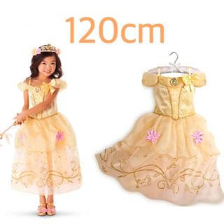 120cm♡イエロー♡ワンピース♡プリンセスドレス♡(ワンピース)