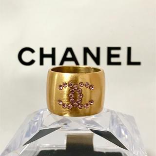 シャネル(CHANEL)の正規品 シャネル 指輪 ゴールド ココマーク ハート ストーン リング 金 4(リング(指輪))