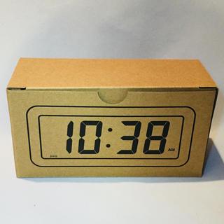 ムジルシリョウヒン(MUJI (無印良品))の無印良品 デジタル時計・小   ホワイト(置時計)