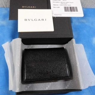 ブルガリ(BVLGARI)の☆正規品 ブルガリ コインケース レザー ブラック 未使用品(コインケース/小銭入れ)