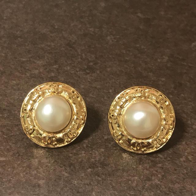 940795717d6e CHANEL(シャネル)の正規品 シャネル イヤリング ゴールド ココマーク パール 真珠 ロゴ 金