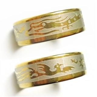 ☆新品☆22号ステンレスリング 指輪 鳳凰 龍(リング(指輪))