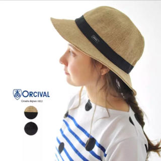 オーシバル(ORCIVAL)のオーシバル オーチバル  Raffia Like Hat グログラン ハット帽子(ハット)