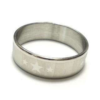 ☆新品☆25号ステンレスリング 指輪 星柄 スター(リング(指輪))