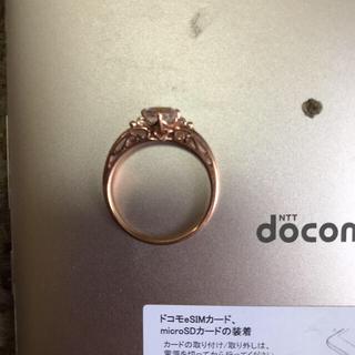 K14 ピンクゴールド モルガナイト リング(リング(指輪))