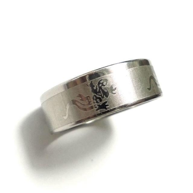 ☆新品☆25号ステンレスリング 指輪 トカゲ 蜥蜴 レディースのアクセサリー(リング(指輪))の商品写真