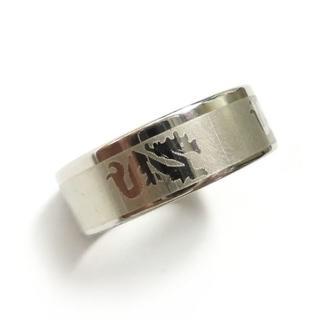 ☆新品☆22号ステンレスリング 指輪 ドラゴン 龍 竜(リング(指輪))