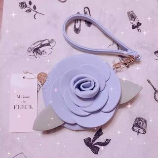 メゾンドフルール(Maison de FLEUR)の♡ メゾンドフルール 薔薇 コインケース 水色 ♡(コインケース)