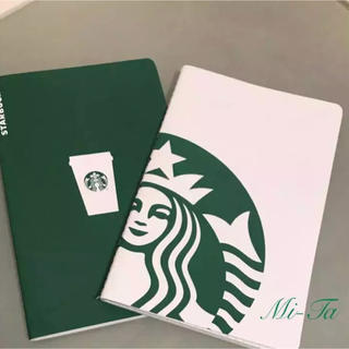 スターバックスコーヒー(Starbucks Coffee)の【新品未使用】日本未発売 スターバックス  ノート 2冊セット(ノート/メモ帳/ふせん)
