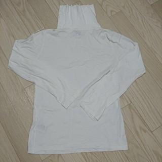 サンスペル(SUNSPEL)のロングTシャツ 白 ハイネック(Tシャツ(長袖/七分))