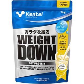 ケンタイ(Kentai)のkentai 健康体力研究所 ウェイトダウン ソイプロテイン バナナ風味 1kg(トレーニング用品)