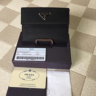 プラダ(PRADA)の良品    プラダ   ナイロン  二つ折り  財布  保管箱  Gカード付(財布)