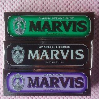 マービス(MARVIS)の大きいサイズ 75ml Marvis マービス 3本セット 送料込み!(歯磨き粉)