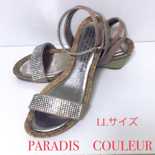 パラディクルール(PARADIS COULEUR)のパラディクルール//ダイアナ卑弥呼プールサイドナインウエストオデットエオディール(サンダル)