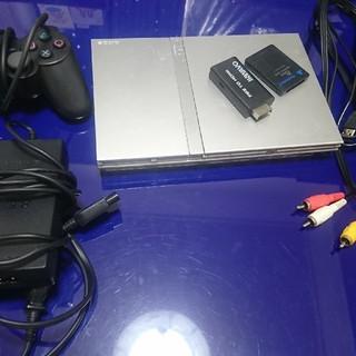 プレイステーション2(PlayStation2)の薄型PS2(SCPH77000)サテンシルバー+α(家庭用ゲーム本体)
