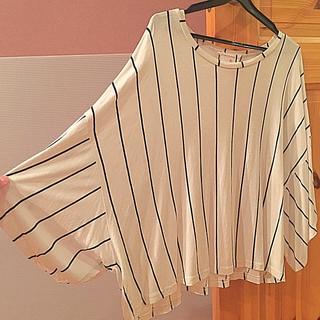 アトモスフィア(ATMOSPHERE)のストライプドルマンTシャツ(Tシャツ(半袖/袖なし))