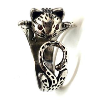 金運UP!高品質!重みあり!招き猫指輪 フリーサイズ(リング(指輪))