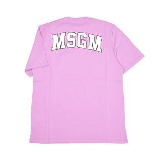 エムエスジイエム(MSGM)のMSGM  パープルバックロゴ半袖Tシャツ XS(Tシャツ(半袖/袖なし))