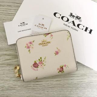 コーチ(COACH)の★新品★COACH(コーチ)ホワイト 花柄 フローラル 折り財布(財布)