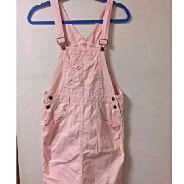 再出品♡ピンクサロペットスカート レディースのスカート(ひざ丈スカート)の商品写真