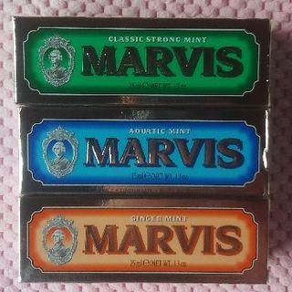 マービス(MARVIS)のマービス Marvis 3本セット 送料込!ご使用後でも全額返金可!(歯磨き粉)