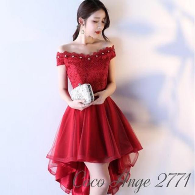 赤 ドレス フィッシュテール