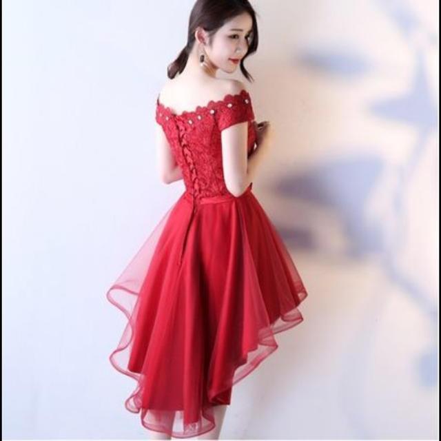 e9bf86d3096a8 赤 ドレス フィッシュテール レディースのフォーマル ドレス(ミディアムドレス)の商品写真