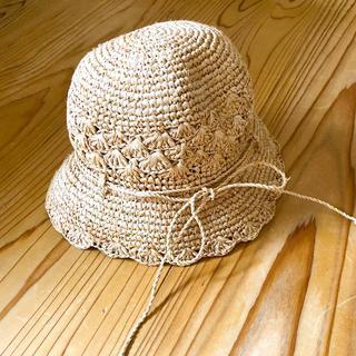 ムジルシリョウヒン(MUJI (無印良品))のmuji 麦わら帽子 ラフィア サイズ 50cm(帽子)