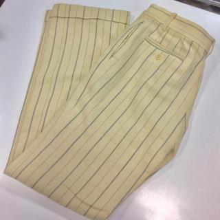 ラルフローレン(Ralph Lauren)のラルフローレン リネン レーヨンパンツ ストライプ 古着好き(カジュアルパンツ)
